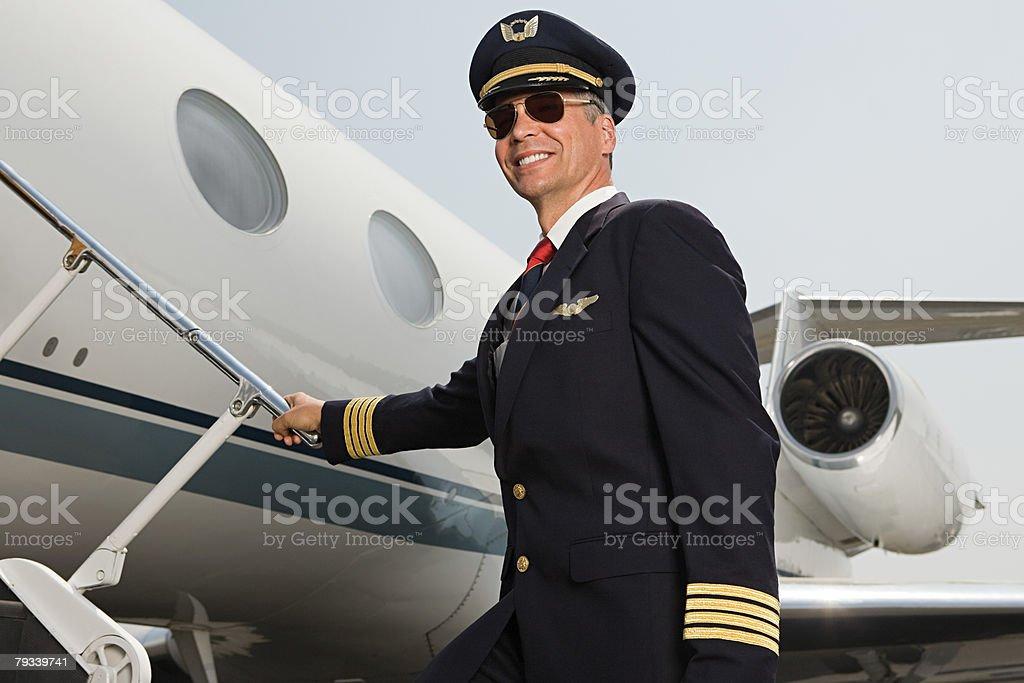 파일럿 탑승이란 비행기 royalty-free 스톡 사진