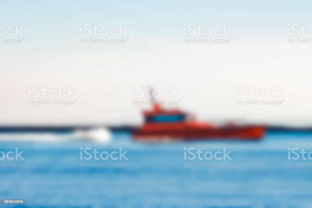 Pilot boat - blurred image royalty-free stock photo