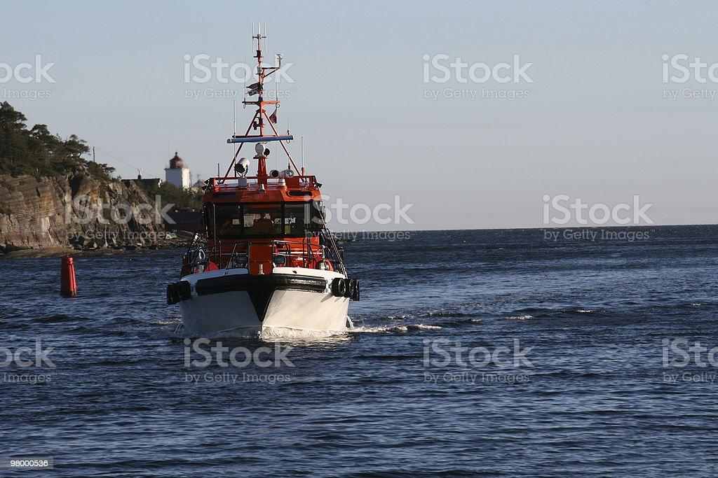 Pilot boat royalty free stockfoto