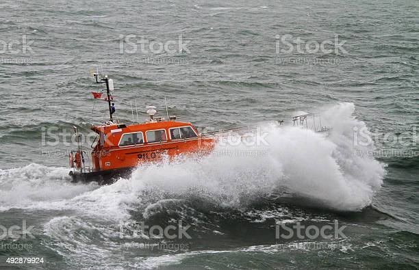 Pilot Boat Swell Stock Photo - Download Image Now