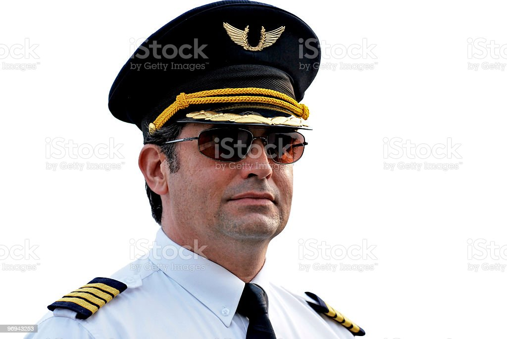 Pilot Captain, isolated royalty-free stock photo