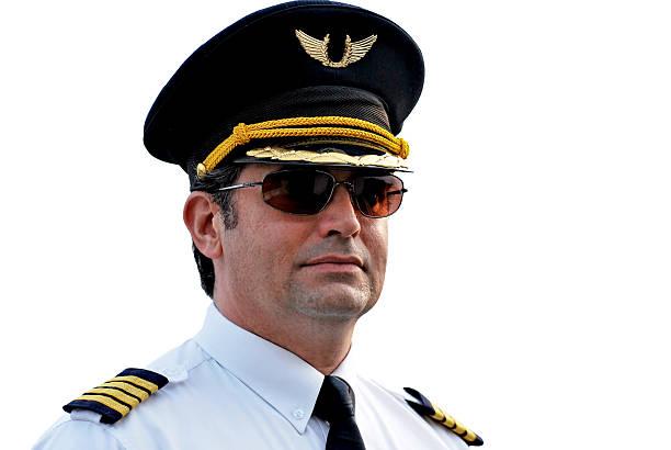 Pilot Captain, isolated stock photo