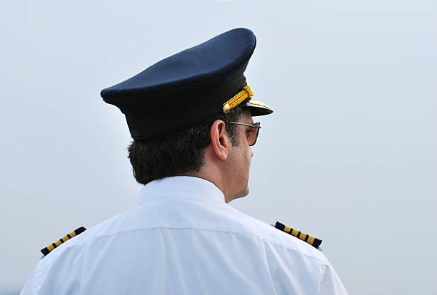 Pilot, Captain stock photo