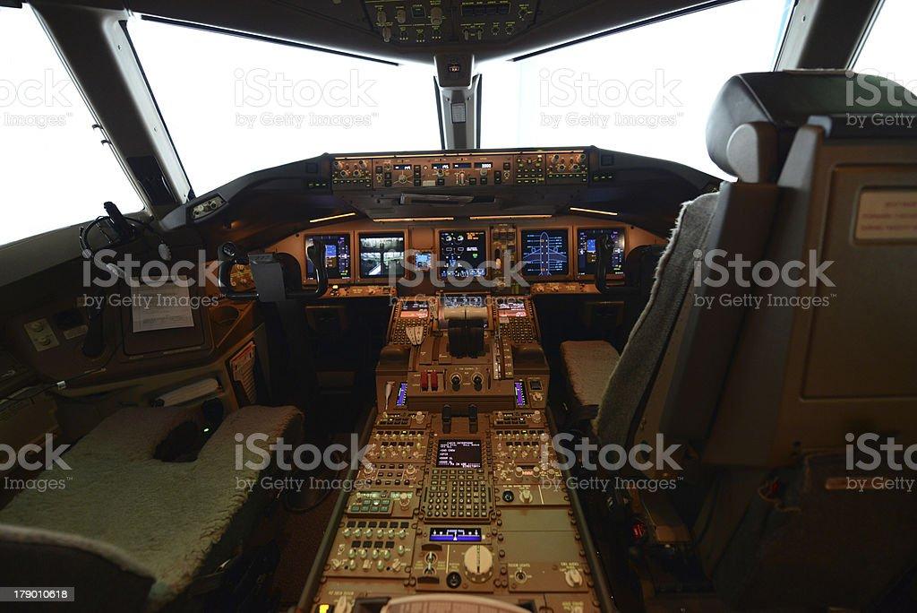 pilot cockpit power on royalty-free stock photo
