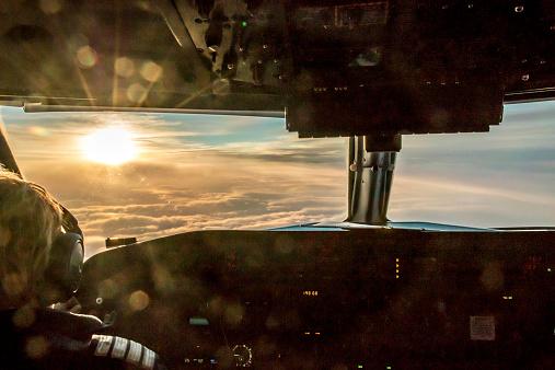 Pilot enjoying view