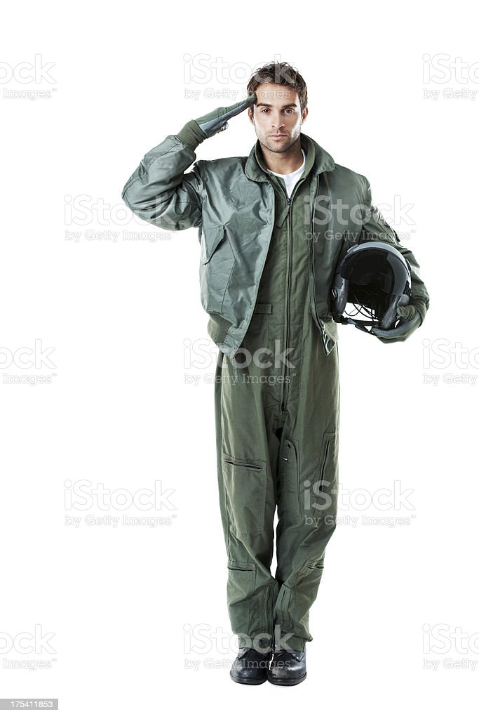 Pilot for the people stock photo