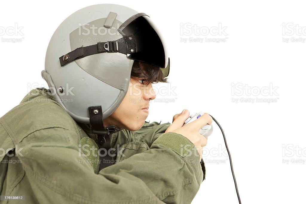 pilot gamer royalty-free stock photo