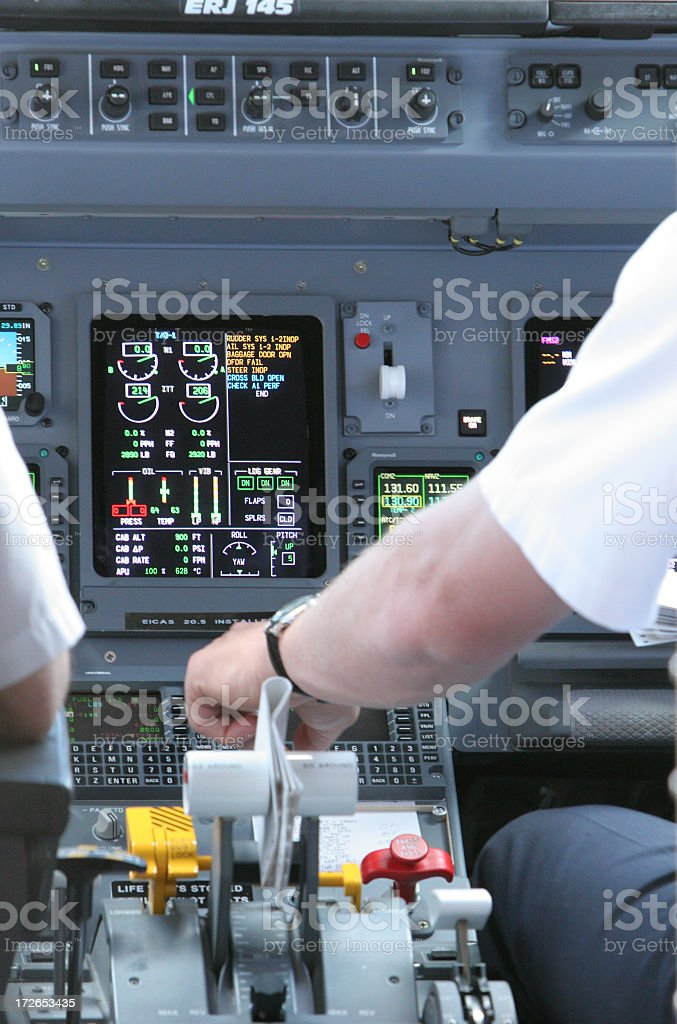 Pilot getting ready for takeoff royalty-free stock photo