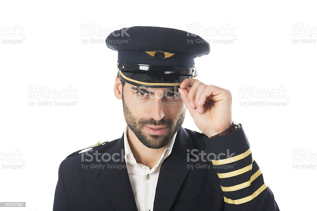 Pilot greetings royalty-free stock photo