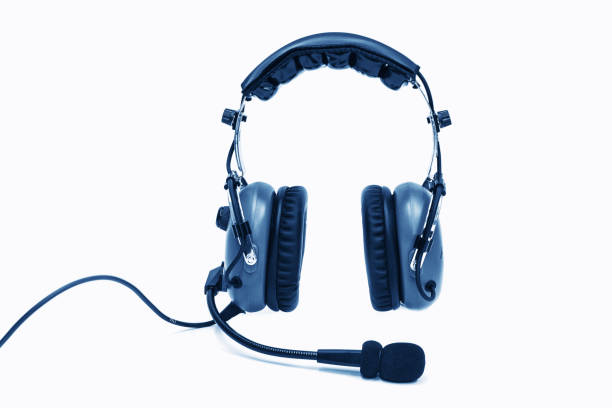 Pilot-Kopfhörer, Kopfhörer Luftfahrt für Piloten. – Foto