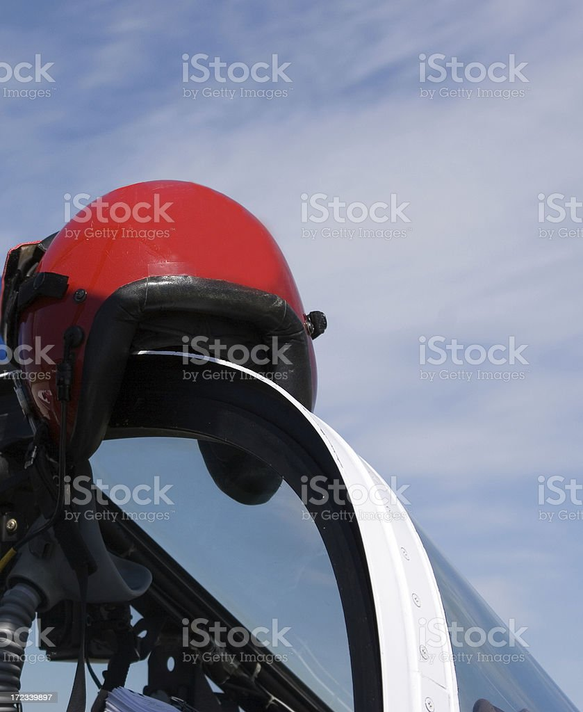 Pilot Helmet stock photo