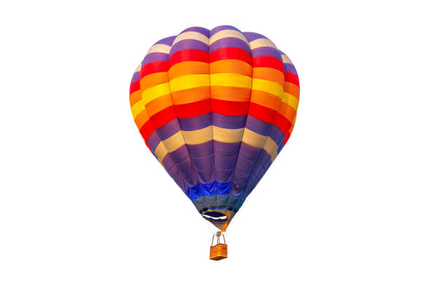 pilot hot air balloon isolated on white background - hot air balloon стоковые фото и изображения