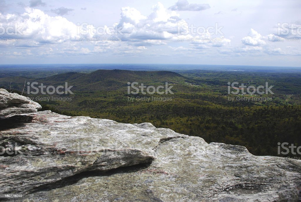 PIlot Mountain, North Carolina stock photo