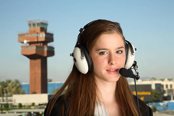 Pilot or ATC stock photo
