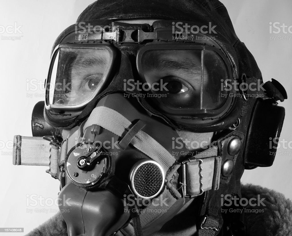 WW2 RAF Pilot stock photo