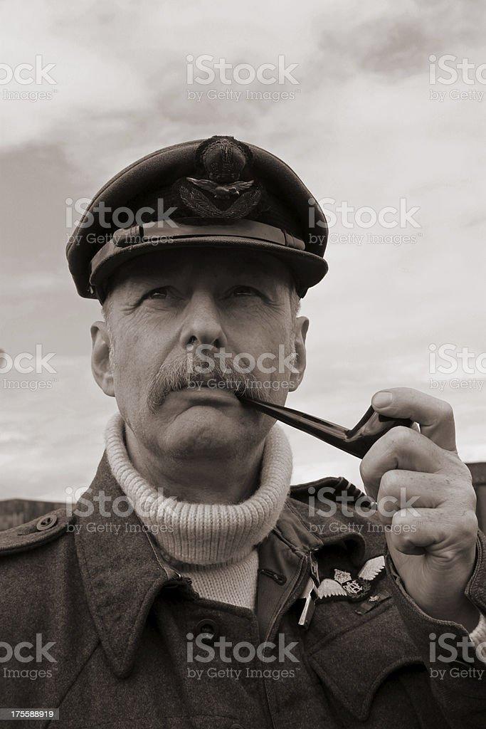 RAF Pilot. stock photo