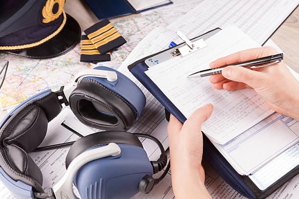 Flugzeug pilot Füllung im Flug planen – Foto