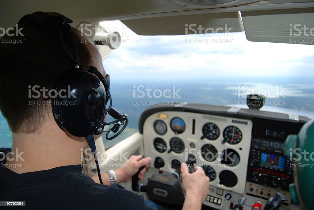Pilot Training stock photo