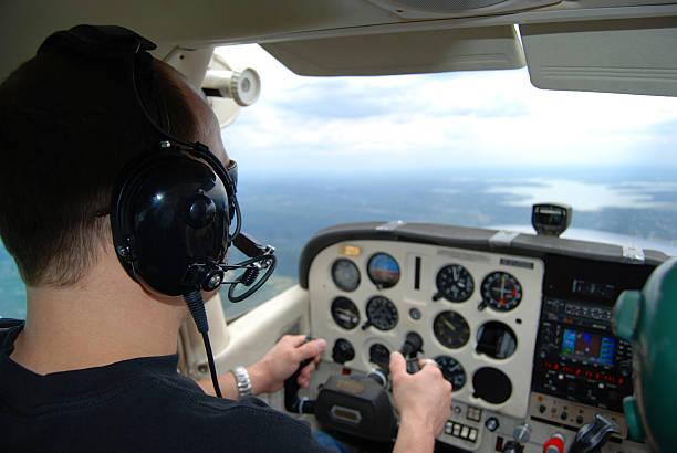Pilot Training stock photo