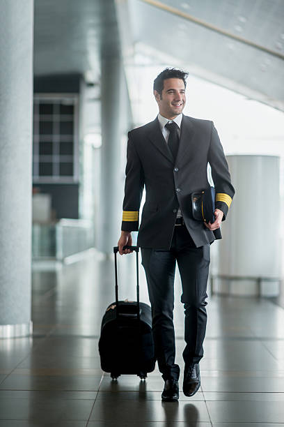 Pilot traveling stock photo