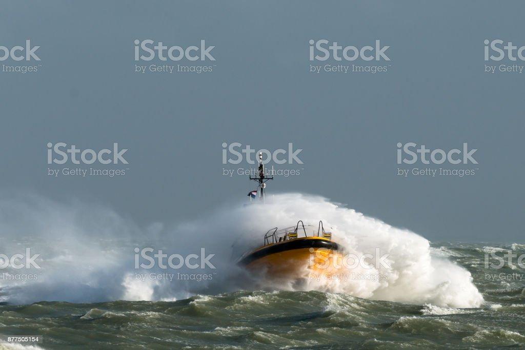 Pilotboat stock photo