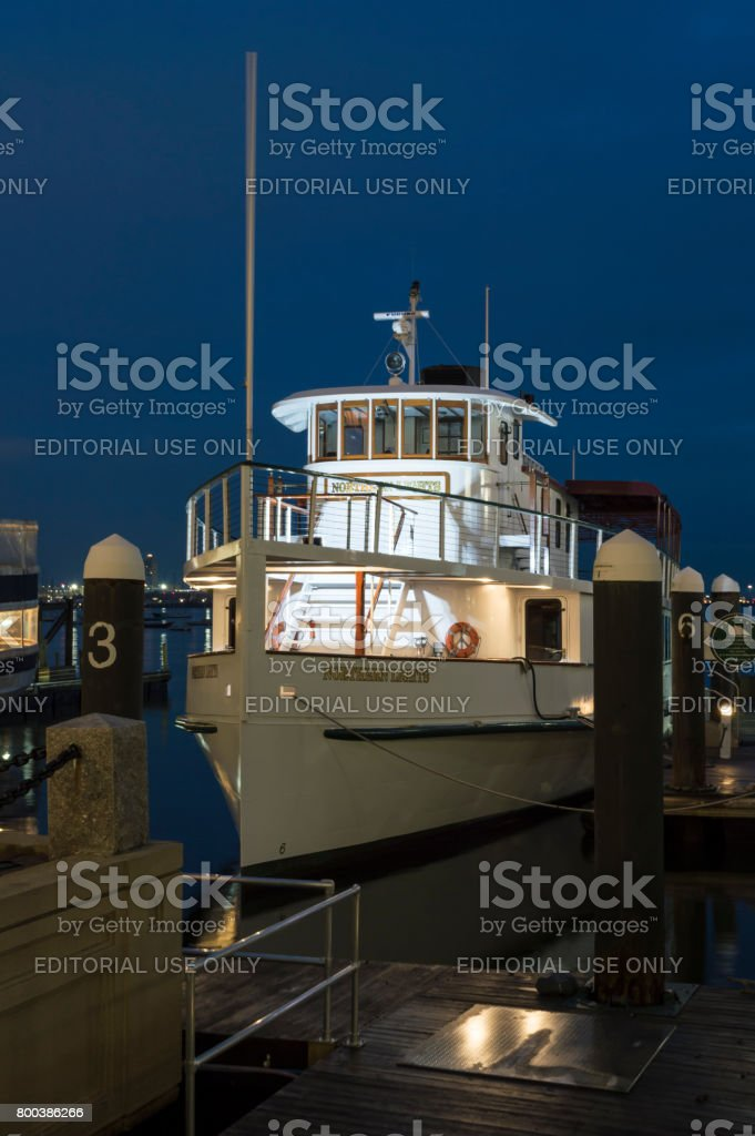 Pilothouse of cruise boat Northern Lights stock photo