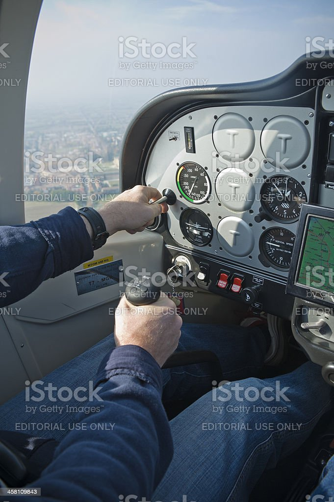 Piloting royalty-free stock photo