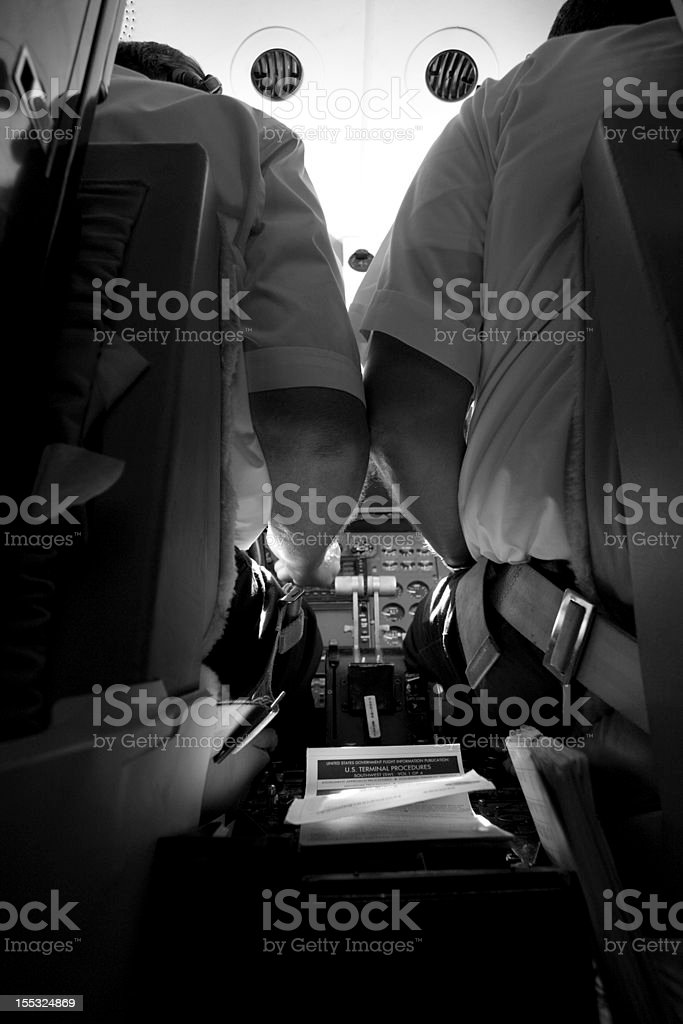 Pilots at work stock photo