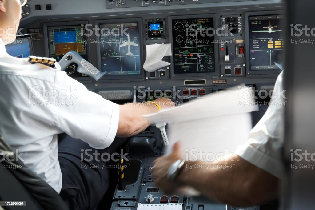 Pilots at work series royalty-free stock photo