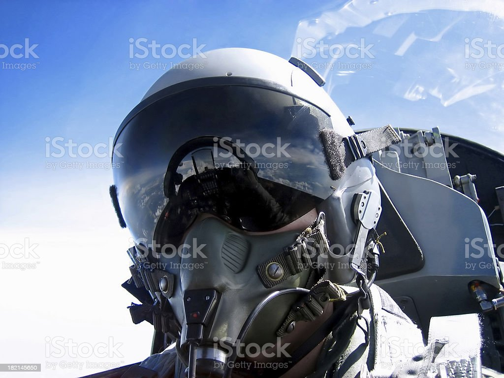 Pilot's Face stock photo