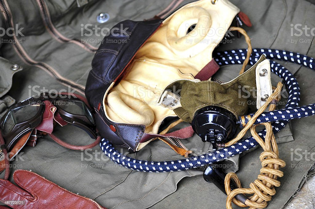 WW' pilot's flying kit stock photo