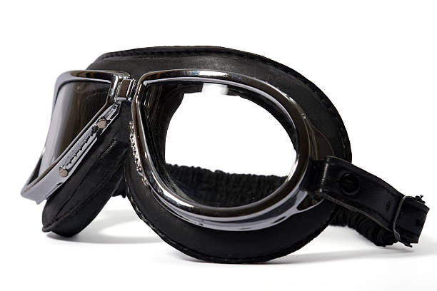 Pilot's goggles stock photo