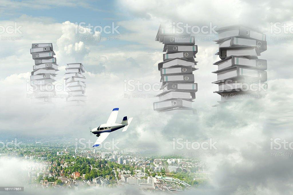 Pilots nightmare stock photo