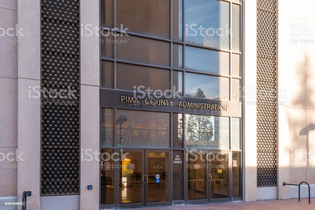 Pima County Administration Building, Tucson stock photo