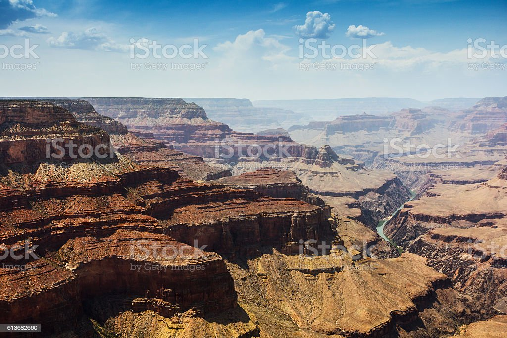 Pima point Grand Canyon view stock photo