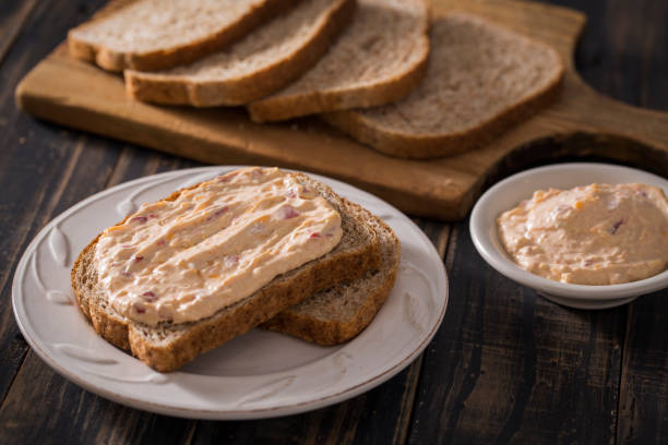 pimento cheese sandwich bread - pimento cheese stock photos and pictures