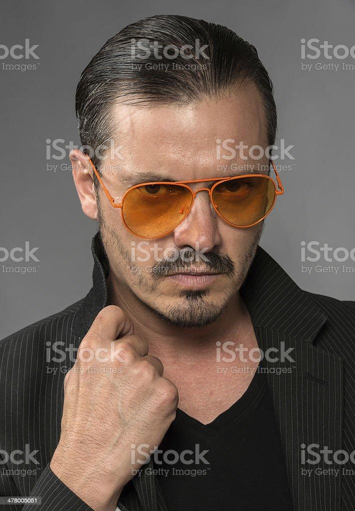Pimp Mugshot (real people) royalty-free stock photo