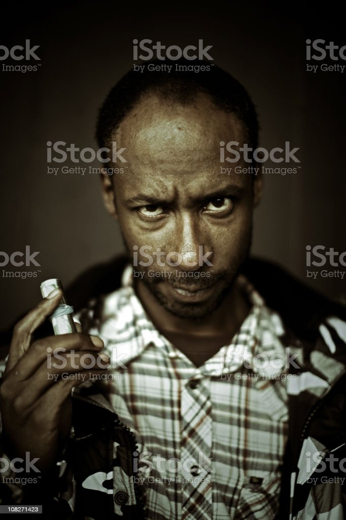 pimp with a money roll stock photo