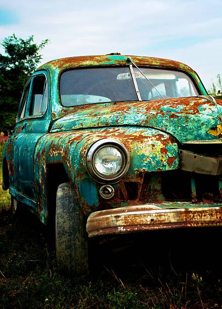 Pimped Rusty Car stock photo