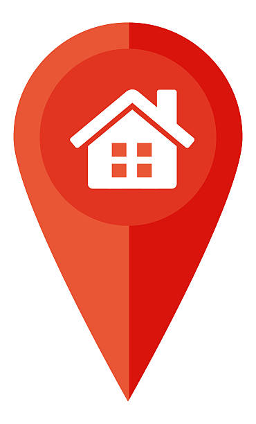 pin and home check in - clip art stock photos and pictures