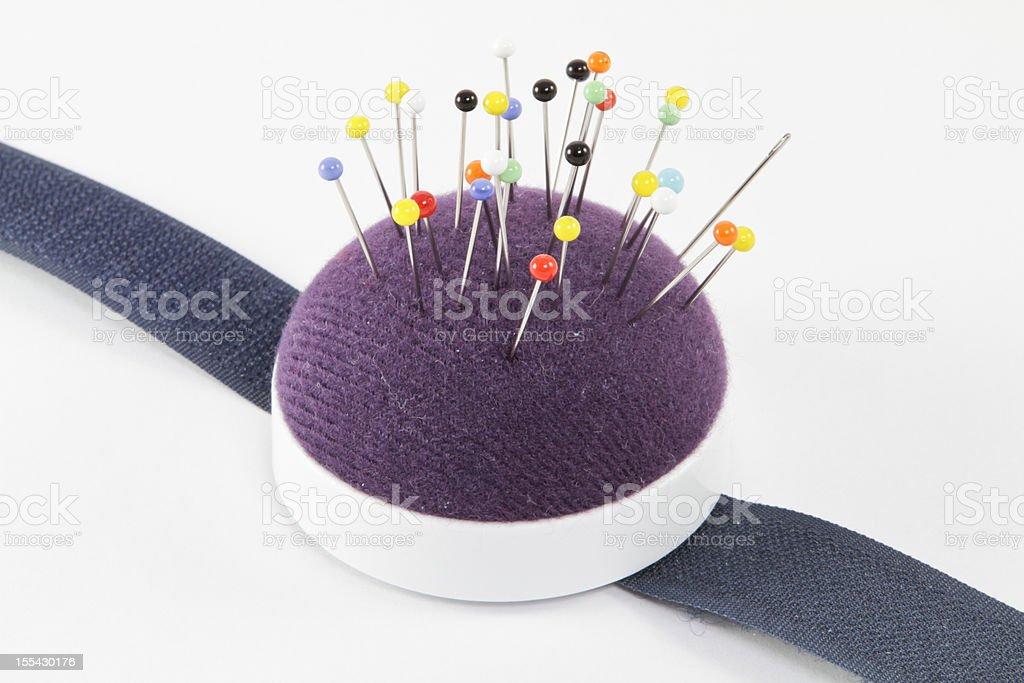 Almofada de Alfinetes para costura needles-pins - foto de acervo