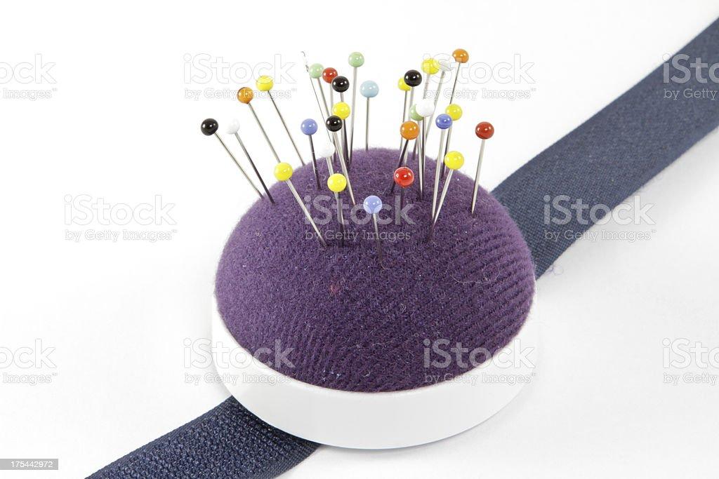 Almofada de Alfinetes agulhas para costura pins - foto de acervo
