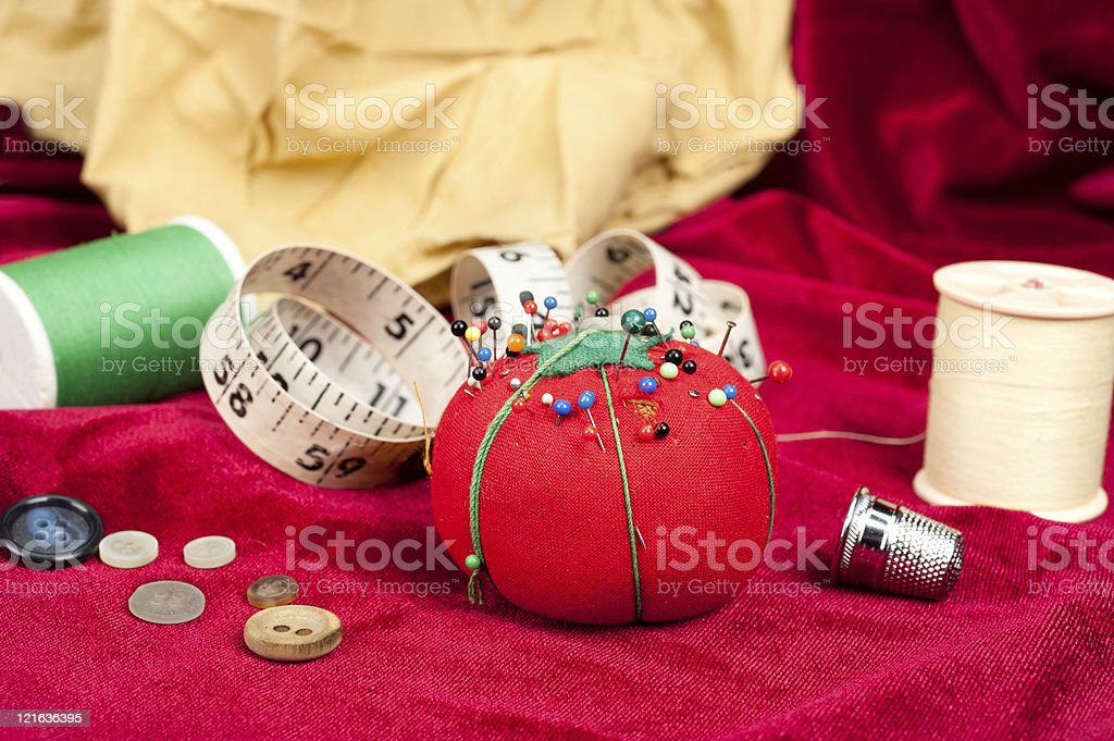 Pin cushion royalty-free stock photo