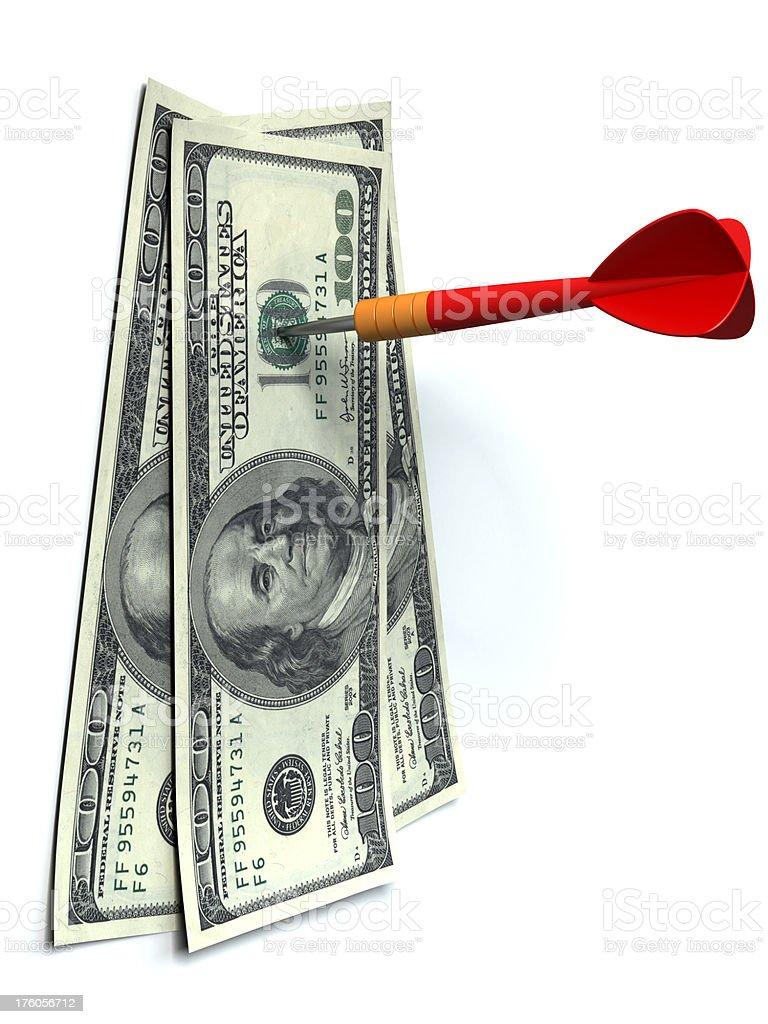 Pin dollars royalty-free stock photo