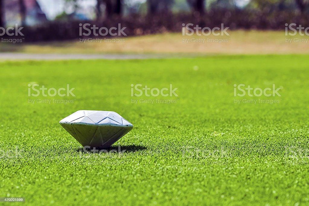 pin golf course stock photo