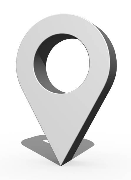 3D Pin icon stock photo