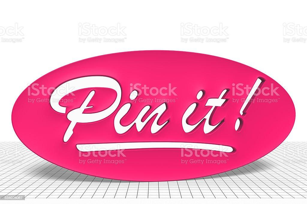 Pin it! stock photo