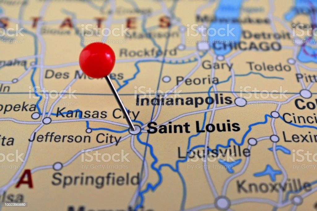 Pin Marked City Of Saint Louis On Map Missouri Eua Stock ... on liberty missouri usa map, nashville tennessee usa map, wichita kansas usa map, albany new york usa map, st. louis map, minneapolis minnesota usa map, providence rhode island usa map, birmingham alabama usa map, boston massachusetts usa map, tacoma washington usa map, springfield missouri usa map, buffalo new york usa map, franklin missouri usa map, lebanon missouri usa map, state of missouri location map, atlanta georgia usa map, omaha nebraska usa map, independence missouri usa map, san diego california usa map, des moines iowa usa map,