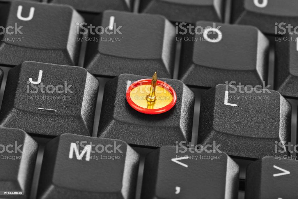Pin on computer keyboard zbiór zdjęć royalty-free
