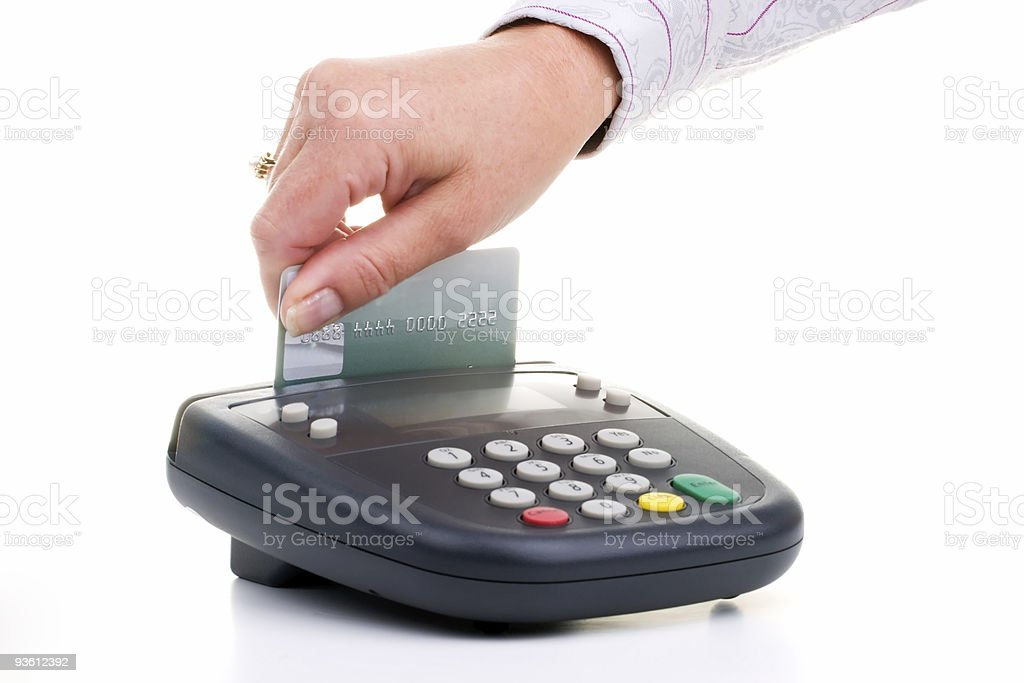 Pin Pad - credit card swipe stock photo